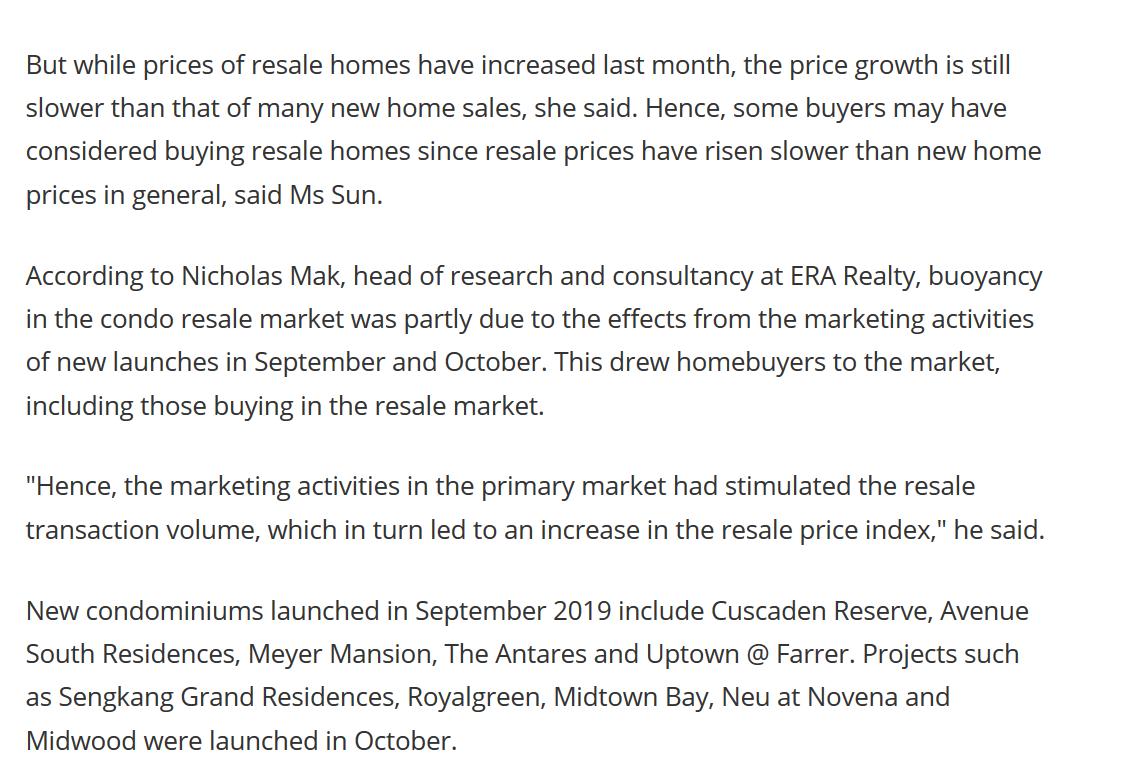 Singapore condo resale prices extend climb in October SRX(7)